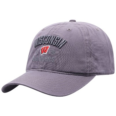 NCAA Wisconsin Badgers Men's Skill Gray Garment Washed Canvas Hat