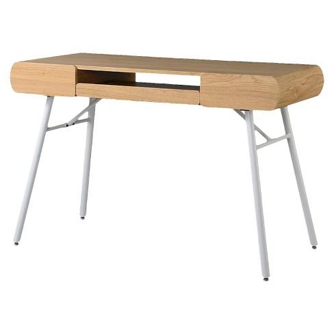 Awe Inspiring Multi Storage Writing Desk Beige White Techni Mobili Interior Design Ideas Clesiryabchikinfo