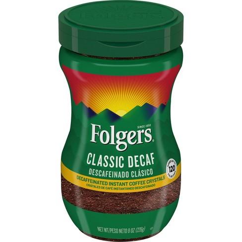 Folgers Classic Medium Roast Instant Coffee - Decaf - 8oz - image 1 of 4