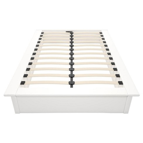Maven Platform Bed - Full - White Faux Leather - Dorel Home Products - image 1 of 7