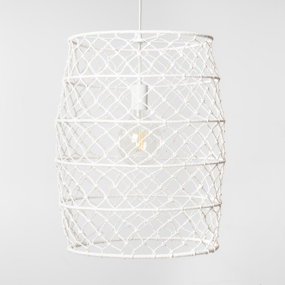 Rope Net Small Pendant Lamp White (Includes Energy Efficient Light Bulb) - Project 62 + Leanne Ford