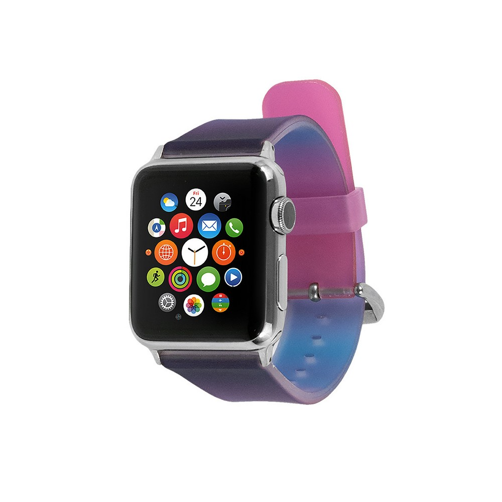 End Scene Apple Watch Band 38mm - Dark Purple, Adult Unisex Add a touch of your personal style to your wearable technology with the Silicone Smartwatch Band for Apple Watch from EndScene. The silicone watch band and adjustable strap let you create the perfect fit that's comfortable to wear all day. The fun colors and designs are sure to get you noticed. Size: 38mm. Color: Dark Purple. Gender: Unisex. Age Group: Adult.