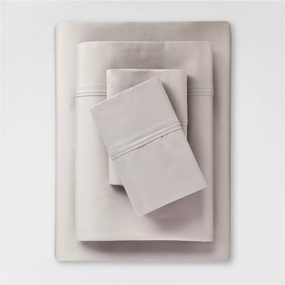 King 400 Thread Count Solid Performance Sheet Gray - Threshold™