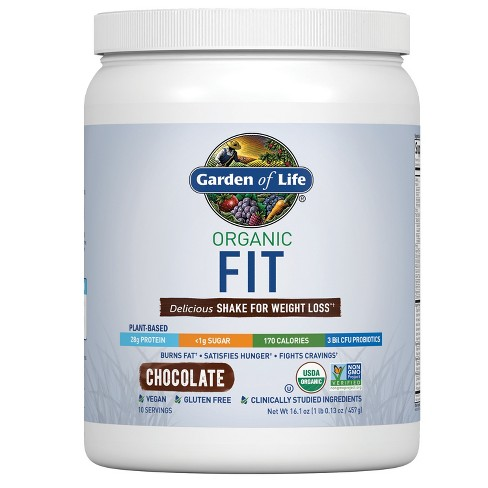 Garden of Life Organic Fit Protein Powder - Chocolate - 16.1oz - image 1 of 4