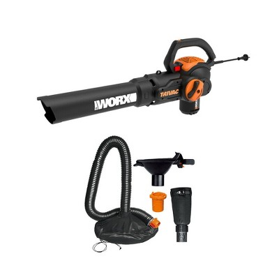Worx WG524 TRIVAC 12-Amp Electric 3-IN-1 Blower / Mulcher / Yard Vacuum with Leaf Collection System