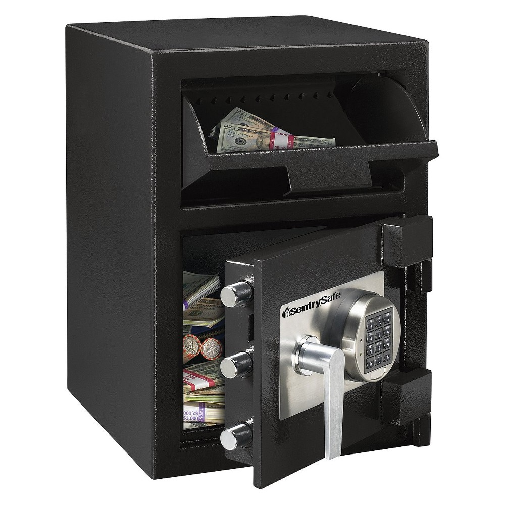 Sentry Safe Depository Safe - .94 cubic feet, Black