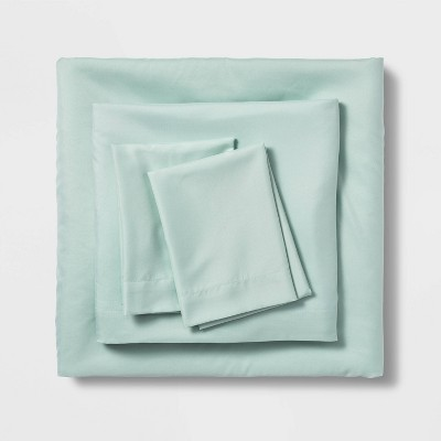 Queen Solid Microfiber Sheet Set Mint - Room Essentials™