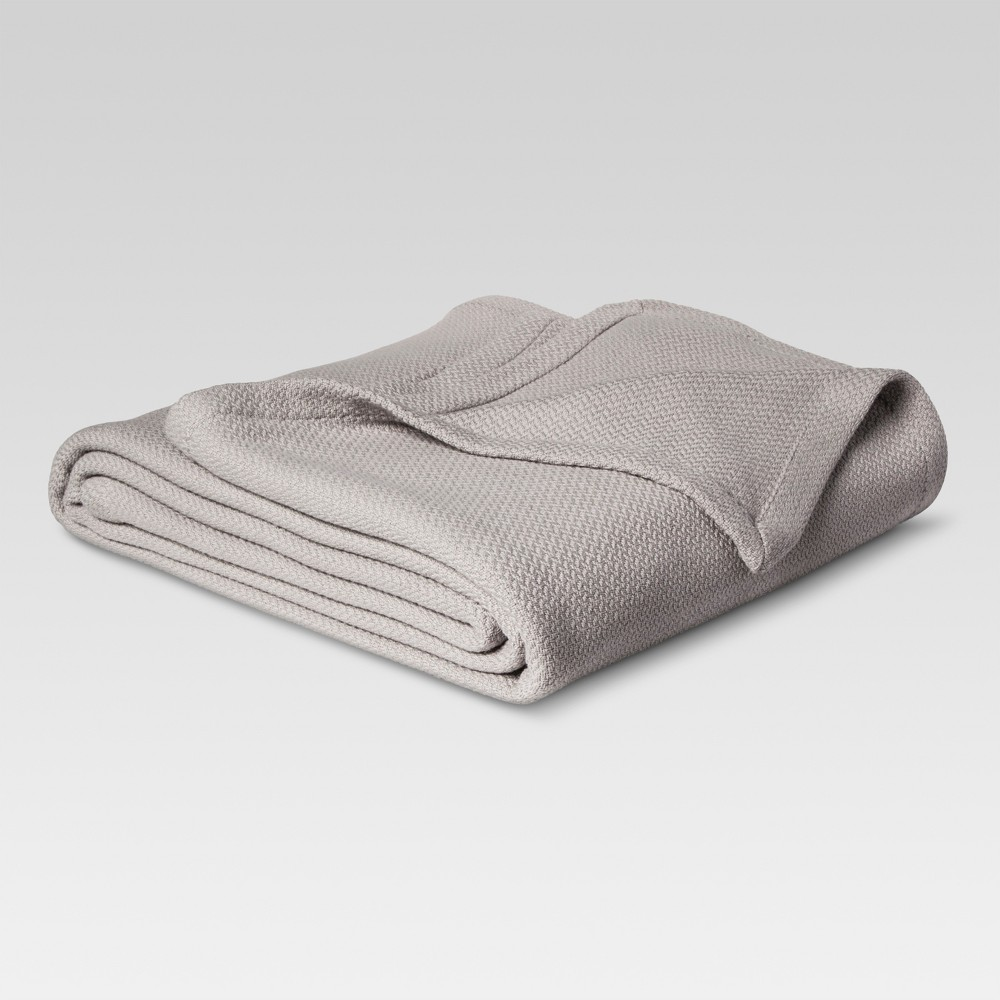 Solid Cotton Blanket (King) Gray - Threshold