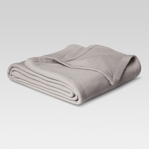 Solid 100% Cotton Blanket - Threshold™ - image 1 of 1