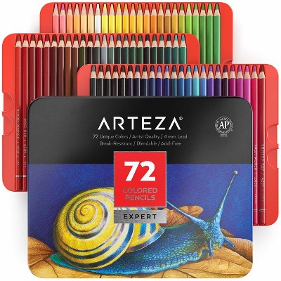 Arteza Professional Colored Pencils Art Supply Set - 72 Piece