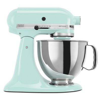 KitchenAid Refurbished Artisan Series 5qt Stand Mixer - Ice Blue RRK150IC