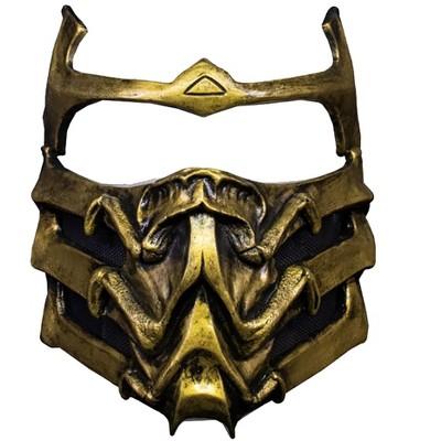Trick Or Treat Studios Mortal Kombat Scorpion Plastic Adult Costume Mask