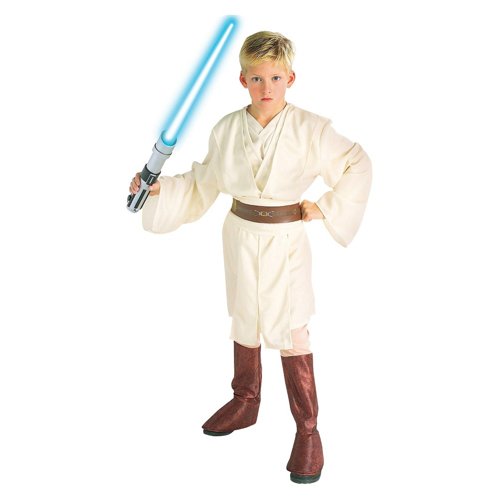 Image of Halloween Star Wars Obi-Wan Boys' Costume Medium (7-8), Boy's, Size: Medium(7-8), Beige Brown