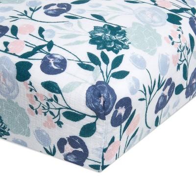 aden + anais Crib Sheet Flowers Bloom English Garden