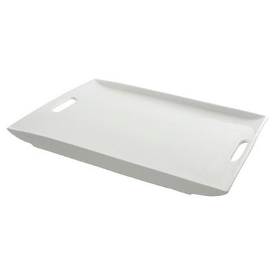 Ten Strawberry Street Rectangular Porcelain Serving Platter with Handles - 20