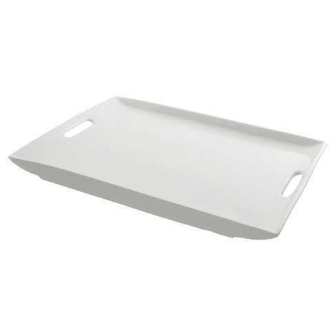 "Ten Strawberry Street Rectangular Porcelain Serving Platter with Handles - 20"" - image 1 of 2"