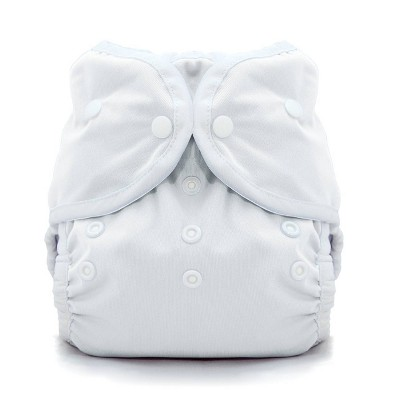 Thirsties Snap Duo Wrap - White Size Two