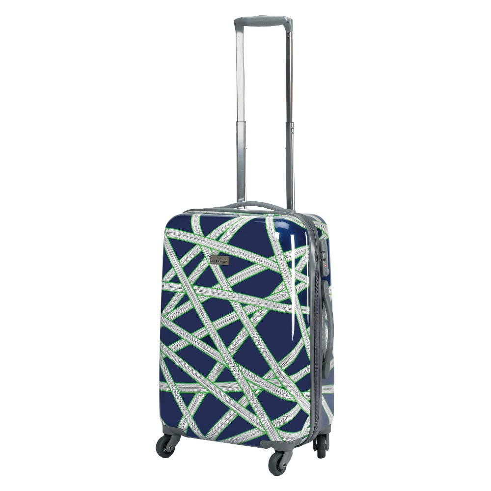Happy Chic by Jonathan Adler 21 Hardside Spinner Carry On Suitcase - Navy (Blue)/Green