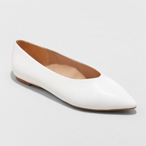 Women's Camille High Vamp Pointed Toe Ballet Flats - A New Day™ - image 1 of 3
