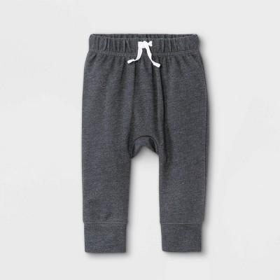 Baby Boys' Harem Jogger Pants - Cat & Jack™ Charcoal Gray Newborn