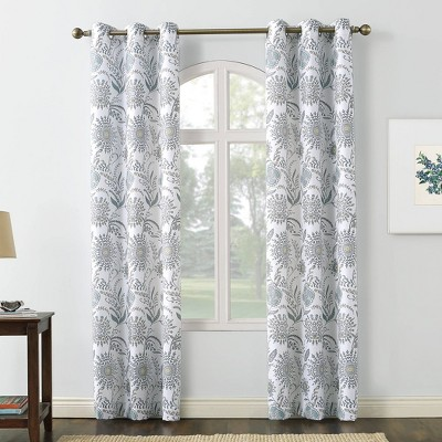 Yuto Medallion Floral Light Filtering Grommet Top Curtain Panel - No. 918