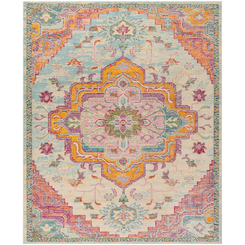 Loomed Medallion Area Rug Light Blue