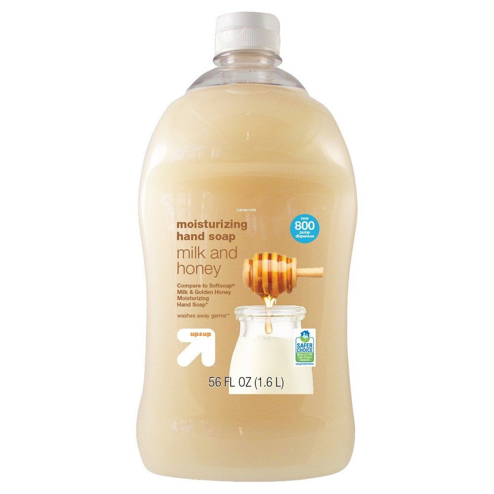 Milk and Honey Liquid Hand Soap - 56oz - Up&Up (Compare to Softsoap Milk & Honey Moisturizing Hand Soap)