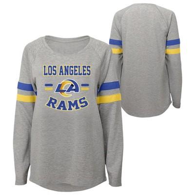 NFL Los Angeles Rams Girls' Long Sleeve Fashion T-Shirt
