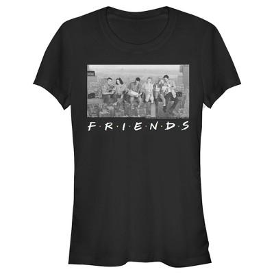 Junior's Friends Besties Atop Skyscraper Photo T-Shirt