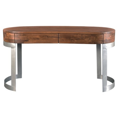 Bryant Kidney Shaped Writing Desk - Light Walnut - Treasure Trove - image 1 of 5