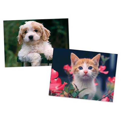 Melissa & Doug® Puppy and Kitten Jigsaw Puzzles Set 30pc each, 60pc - image 1 of 2