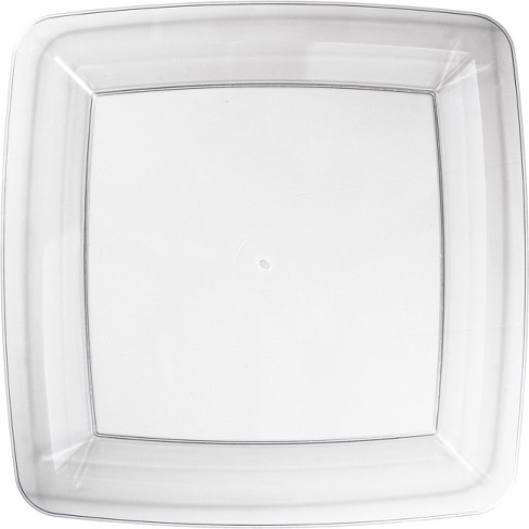 24ct Clear Banquet Plates Square Clear - image 1 of 2