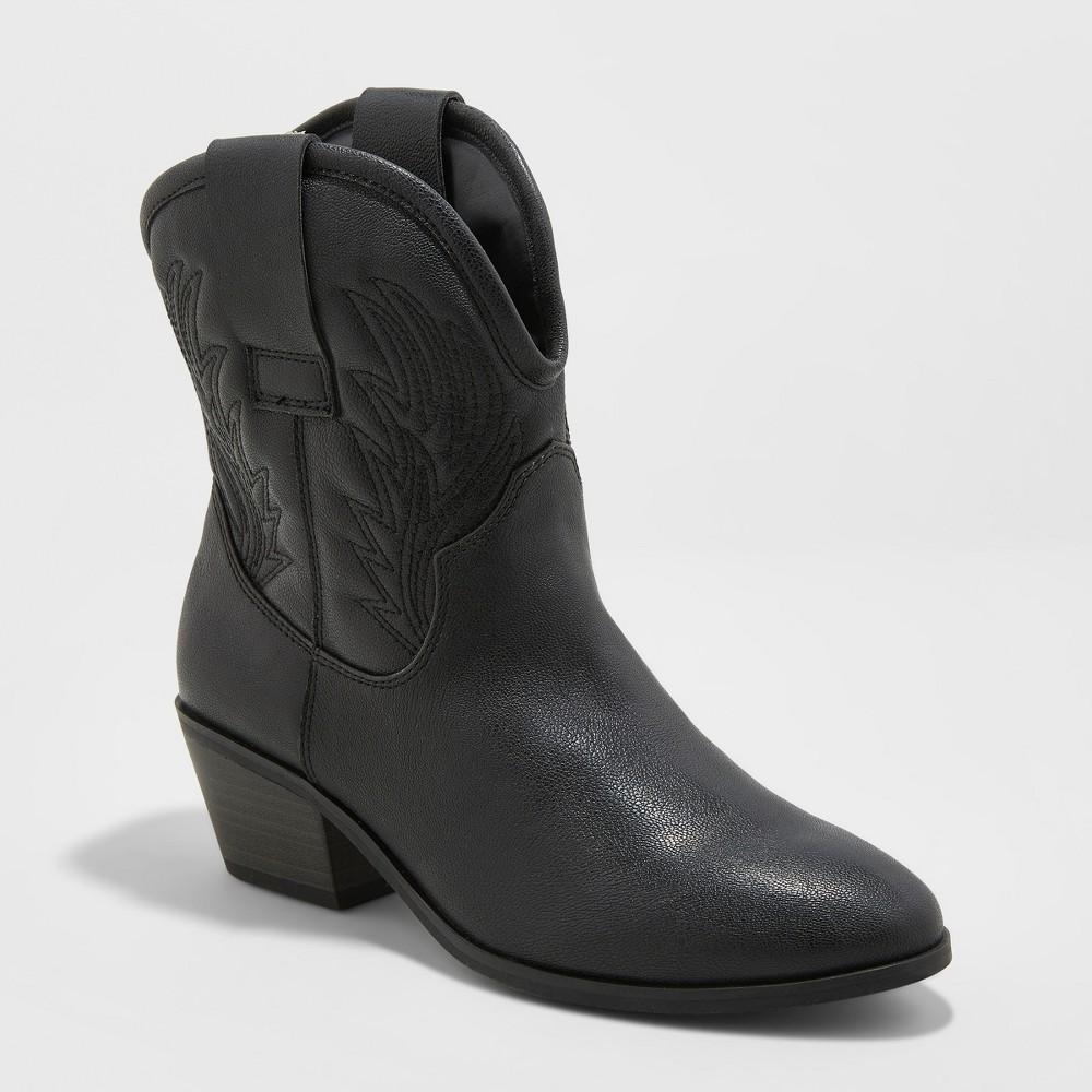 Women's Dalia Western Boots - Universal Thread Black 6.5