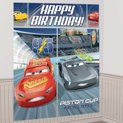 Birthday Express Disney Cars Scene Setter Wall Decorating Kit