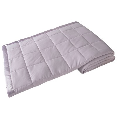 Elite Home 90 x 90 Inch Soft Lightweight Solid Cozy Nights Down Alternative Polyester Throw Blanket for Couch, Sofa, or Bed, Full/Queen, Lilac