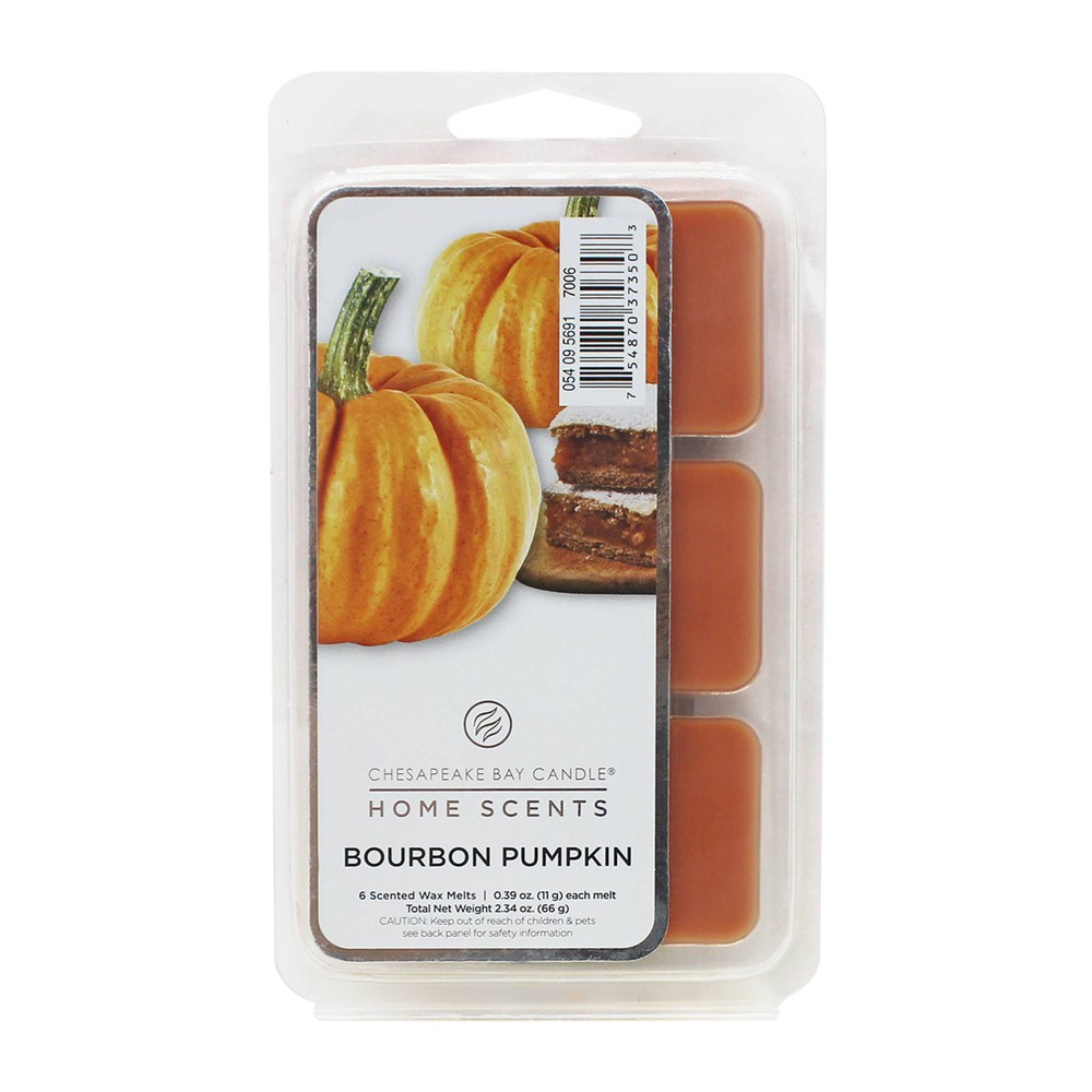 Image of 6pk Wax Melts Bourbon Pumpkin - Home Scents by Chesapeake Bay Candle, Orange