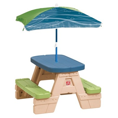Step2® Sit & Play Junior Picnic Table with Umbrella