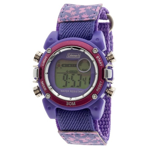 Boys' Coleman Digital Sportwrap Watch - Pink Butterfly Print - image 1 of 1