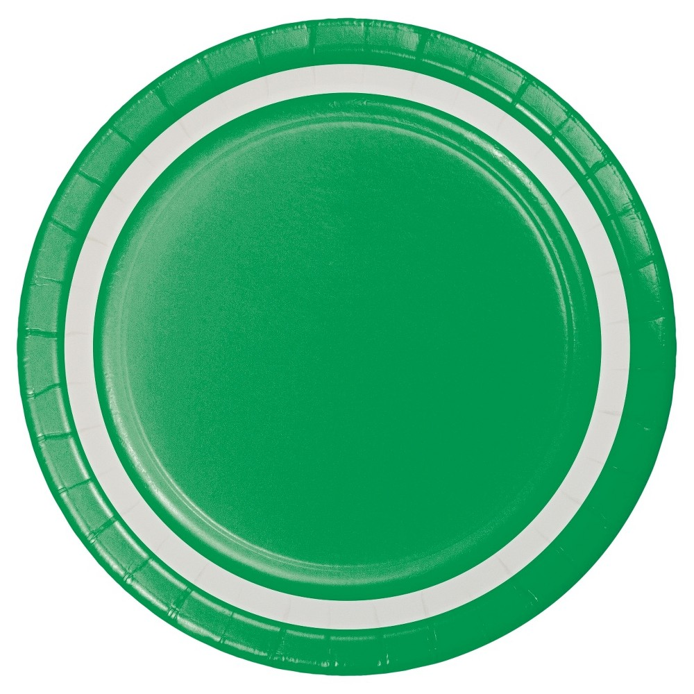 Image of 9 Emerald Paper Plates - 10ct - Spritz, Green