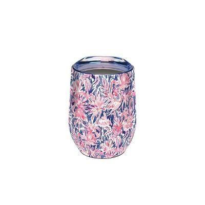 Artisan Stainless Steel Wine Tumbler - Flamingo
