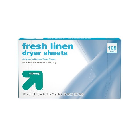 Up&Up™ Fresh Linen Fabric Softener Dryer Sheets - 105ct (Compare to Bounce® Dryer Sheets) - image 1 of 3