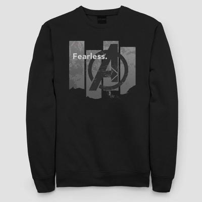 Women's Marvel Fearless Fleece Sweatshirt (Juniors') - Black