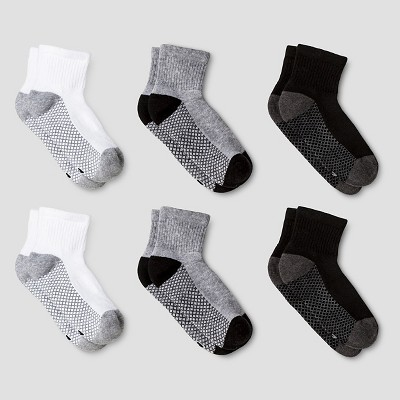 Boys' 6pk Athletic Anke Socks - Cat & Jack™ White/Gray/Black