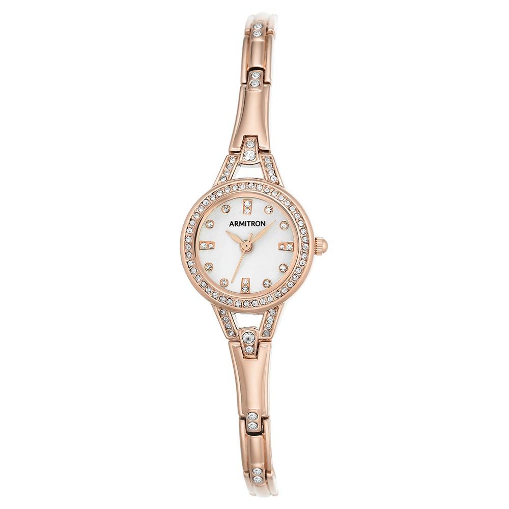 Women's Armitron Swarovski Crystal Accented Bracelet Watch - Rose gold