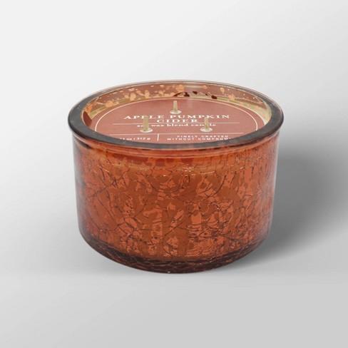 11oz Mercury Glass Jar 3-Wick Candle Apple Pumpkin Cider - Threshold™ - image 1 of 1
