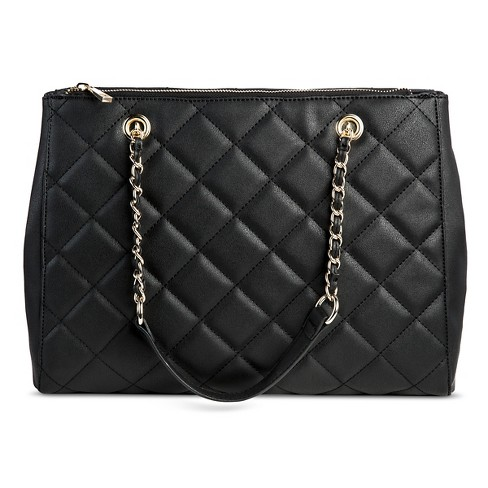 Women S Quilted Tote Handbag Mossimo
