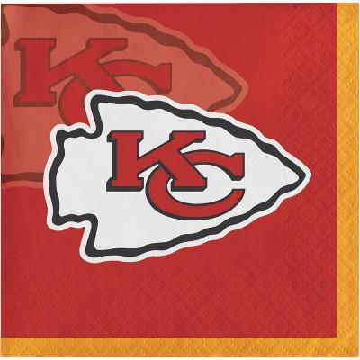 48ct Kansas City Chiefs Football Beverage Napkins