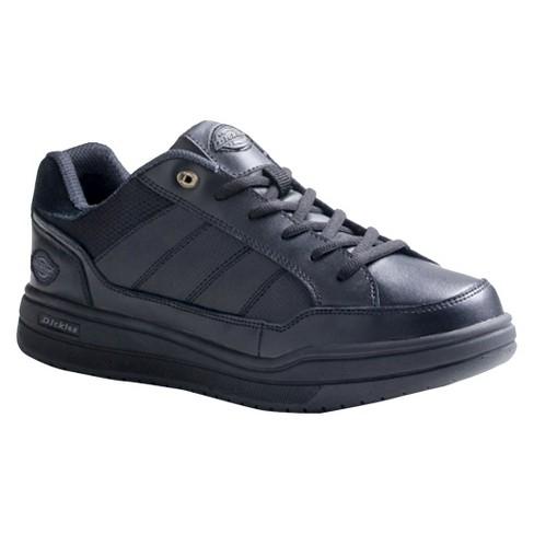 Dickies® Men's Athletic Skate Leather Slip Resistant Sneakers - Black - image 1 of 1