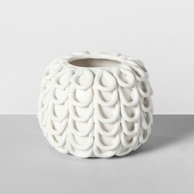 4.7  x 3.7  Decorative Porcelain Vase White - Opalhouse™