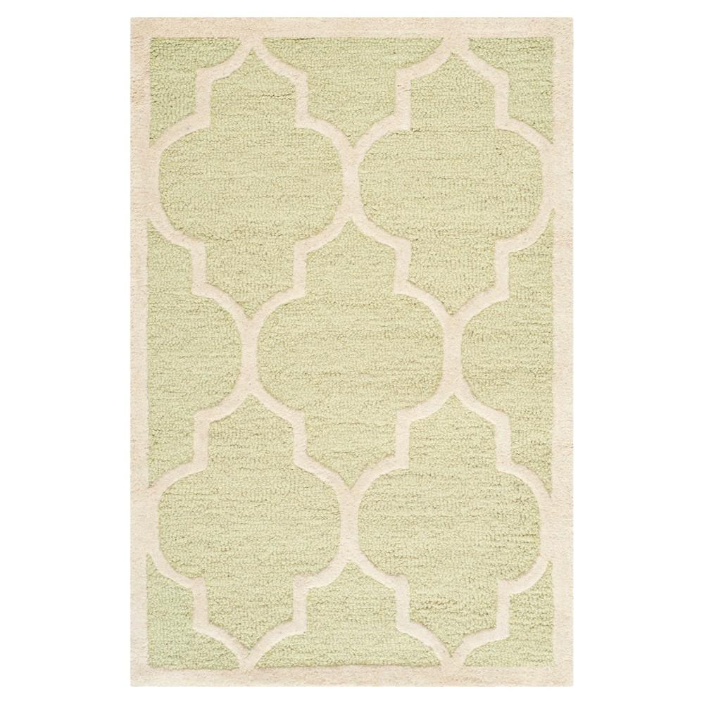 Alexander wool Textured Area Rug - Green / Ivory - (2'X3' ) - Safavieh, Light Green/Ivory